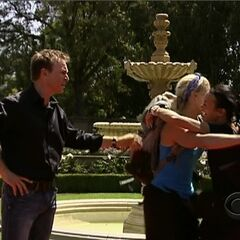 Nat & Kat hugging after learning of their victory.