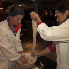 Mona &amp; Beth doing the <i>Tasty Puddin</i>Detour in <a href=
