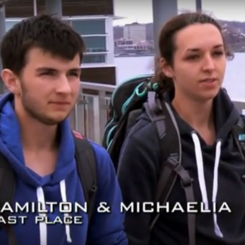Hamilton & Michaelia were eliminated from the race in 9th place after losing too much time retrieving Hamilton's lost passport.