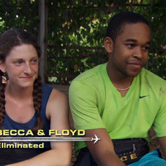 Becca & Floyd were eliminated from the race in 5th place.