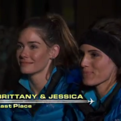 Jessica & Brittany are eliminated from the race in 9th.