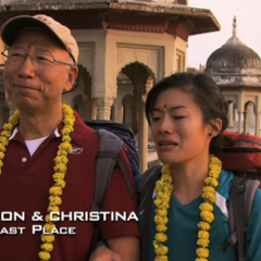 Ron & Christina were eliminated from the race in 7th place.