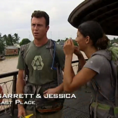 Garrett &amp; Jessica were eliminated from the race in 11th place after Jessica's struggle with the <a href=