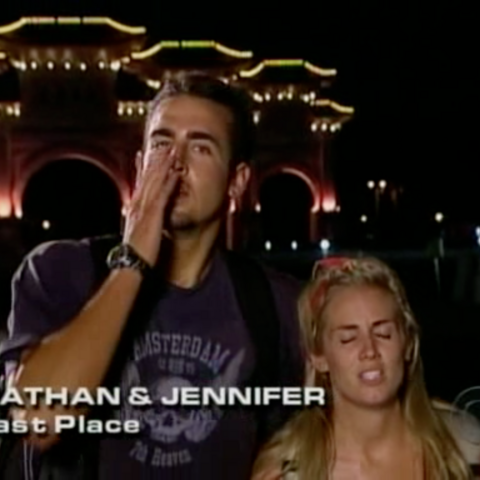Nathan & Jennifer were eliminated from the race in 4th Place.
