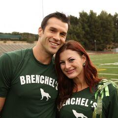Brendon & Rachel at the starting line.