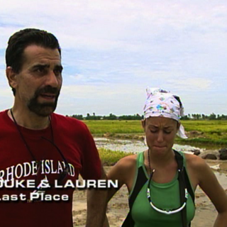 Duke & Lauren were eliminated from the race in 9th Place.