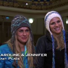 Caroline & Jennifer were eliminated from the race in 4th Place.