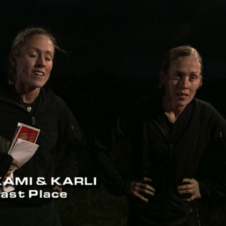 Kami & Karli were eliminated from the race in 5th place.