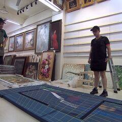 Tyler &amp; Korey doing the <i>Master of Arts</i> Detour in Leg 11.