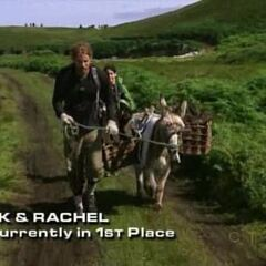TK &amp; Rachel performing the donkey task on <a href=