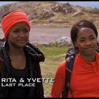 Rita &amp; Yvette are eliminated from the race in 5th place after a <a href=
