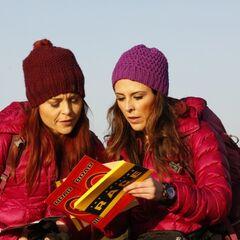 Erin &amp; Joslyn reading the <a href=
