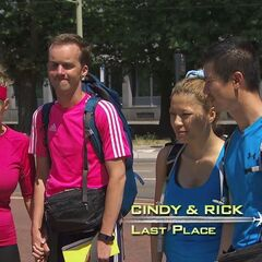 Cindy & Rick were eliminated from the race at 7th place.
