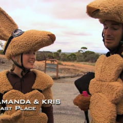 Amanda & Kris were eliminated from the race in 11th Place.