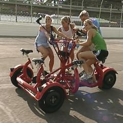 The Bransen Family take a lap around the Talladega Superspeedway.