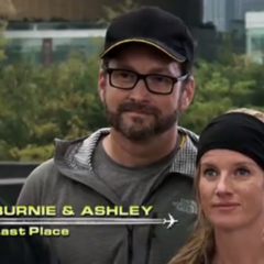 Burnie & Ashley are eliminated from the race in 4th place.