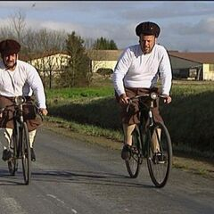 Louie &amp; Michael bicycling their way to Leg 5's <a href=