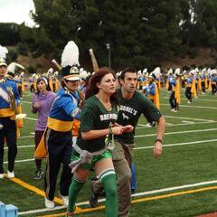 Brendon & Rachel during the starting task.
