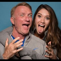 An alternate promotional photo of Scott &amp; Blair for <i>The Amazing Race</i>.