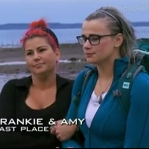 Frankie & Amy are eliminated from the race in 4th place.