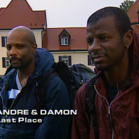 Andre & Damon were eliminated from the race in 6th place.