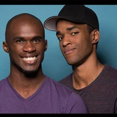 An alternate promotional photo of Darius &amp; Cameron for <i>The Amazing Race</i>.