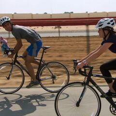 Zach &amp; Rachel attempting the <i>Races</i> Detour in <a href=