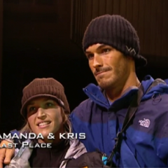 Amanda & Kris were eliminated from the race in 8th place.