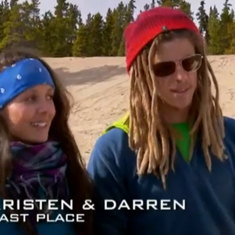 Kristen & Darren were the third team to be eliminated after going for a hard Detour and not using the Express Pass.