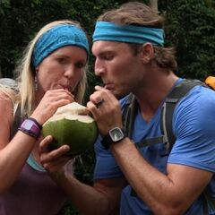 Adam &amp; Bethany drinking out of a coconut in <a href=