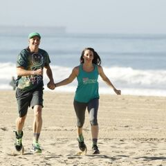 Justin &amp; Diana running to the <a href=