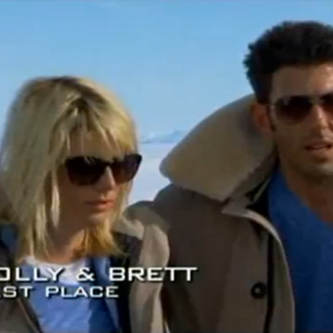 Holly & Brett were eliminated from the race in 5th place.