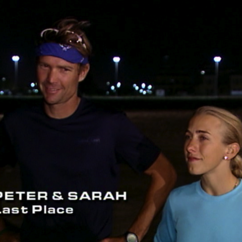 Peter & Sarah were eliminated from the race in 7th Place after a terrible day of navigational issues.