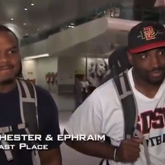 Chester & Ephraim were eliminated from the race in 9th place, after having issues with flight delays.