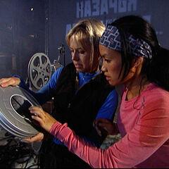 Nat &amp; Kat doing the <i>Classic Cinema</i> Detour in <a href=