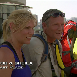 Rob &amp; Sheila were eliminated from the race in 11th Place after losing in a footrace to <a href=