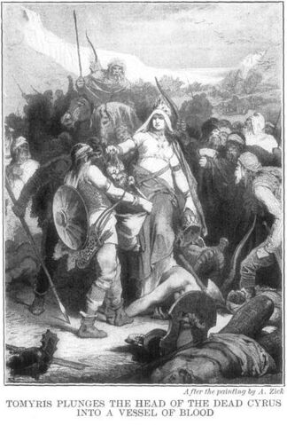 File:405px-Tomyris Plunges the Head of the Dead Cyrus Into a Vessel of Blood by Alexander Zick.jpg