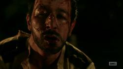 Carlos walks off after being beaten senseless