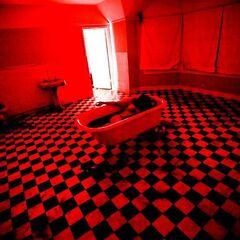 Dead woman in a bathtub