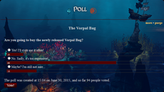 Vorpal Bag poll