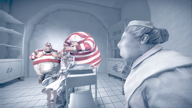 File:The Tweedles with Nurse Cratchet trepanning Alice.png