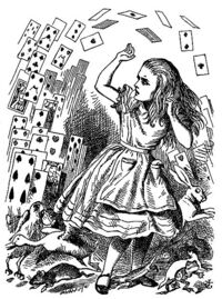 The Cards attacking Alice