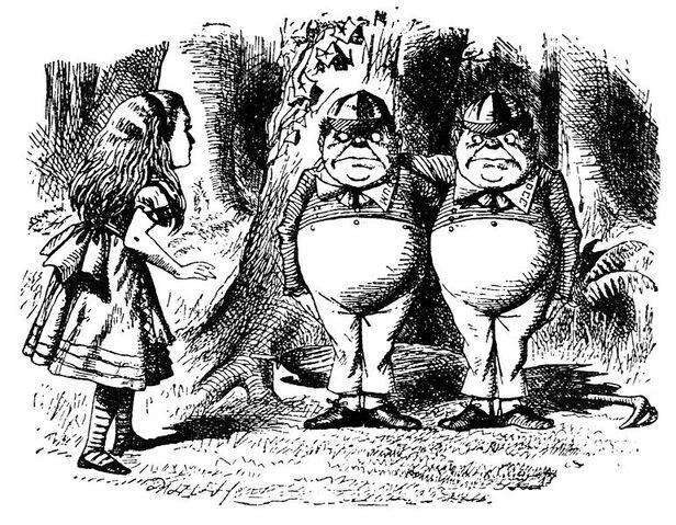 File:Alice meeting Tweedledum and Tweedledee.jpg