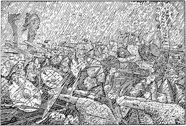 File:Olav Tryggvasons saga - Uvaeret Hjoerungavaag - H. Egedius.jpg
