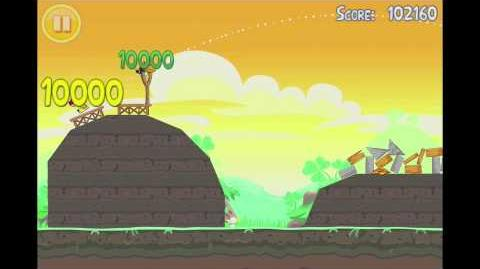 Angry Birds Seasons Go Green, Get Lucky 3 Star Walkthrough Level 15