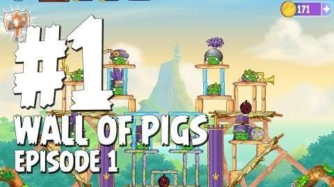Angry Birds Stella Wall of Pigs Level 1 Walkthrough Branch Out Episode 1