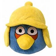 Angry birds winter blue bird