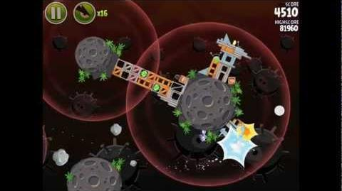 Angry Birds Space Danger Zone Level 1 Walkthrough 3 Star