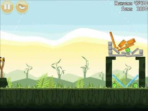 Official Angry Birds Walkthrough Poached Eggs 2-7