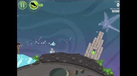 Angry Birds Space Cold Cuts 2-4 Walkthrough 3-star